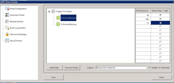 Monitor data backup process