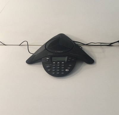 The conference phone is installed by SmallNET