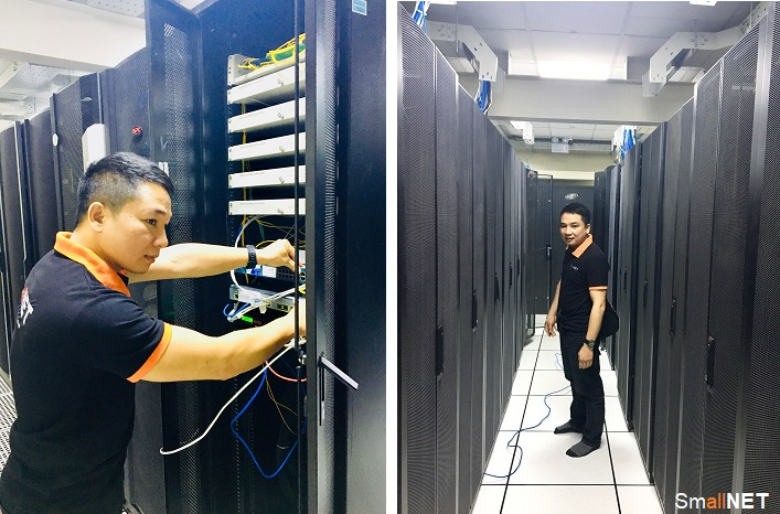 SmallNET installed equipment and built server room