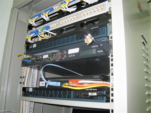 The rack system is upgraded and installed by SmallNET