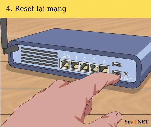 Khắc phục lỗi kết nối internet