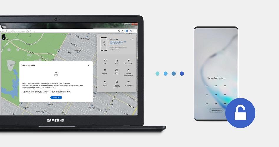 Cách mở khóa điện thoại Samsung khi quên mật khẩu