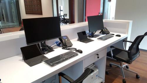 Trang thiết bị máy tính, máy in, điện thoại được SmallNET cung cấp và cài đặt